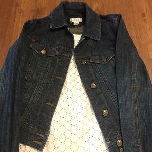 LOFT denim jacket size 2